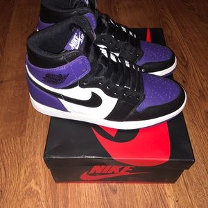 Nike air jordan 1 purple sz 8.5